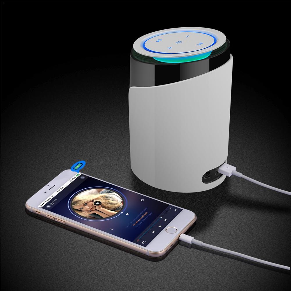 S8 multi-fonction coloré veilleuse téléphone portable support Bluetooth haut-parleur