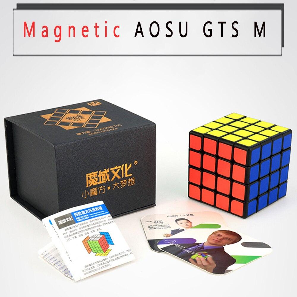 Magnétique 4*4*4 professionnel Moyu Aosu GTS M Puzzle Cube magique 4 quatre couches sans autocollant Cubo Megico 6.2 CM 4x4x4