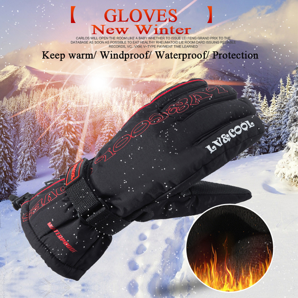 Mens winter gloves xxl - Winter Motorcycle Gloves Men Racing Waterproof Windproof Warm Leather Cycling Bicycle Cold Luvas Motor Guantes Glove