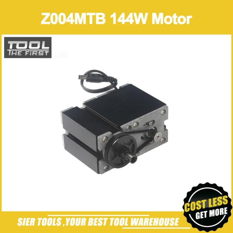 Free Shipping Z004MTBE 144W Motor 12000rpm motor with 1pc Metal Wheel Gear Box Dedicated for 60W