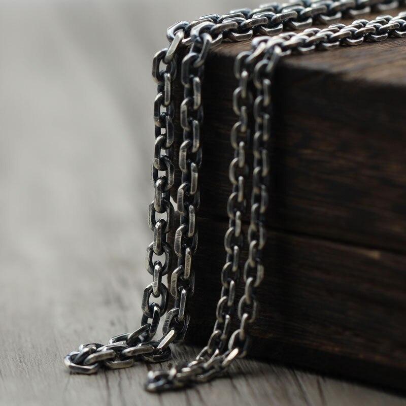 S925 Necklace Sterling Silver Vintage Necklace 3.5mm