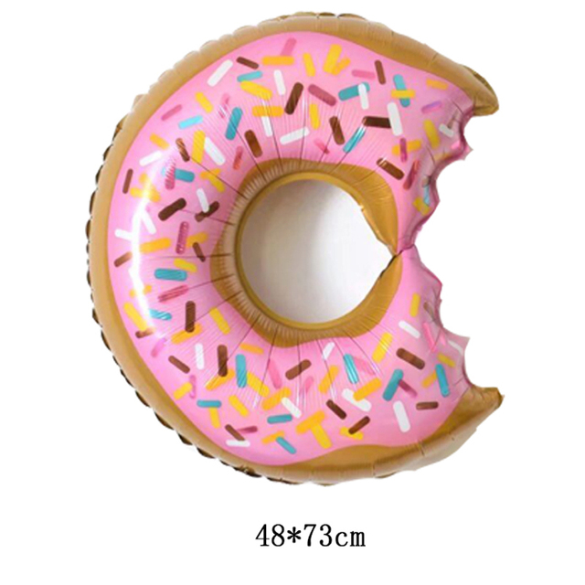 Wholesale 10pcs Lot Doughnut Balloons Happy Birthday Decorations Air Inflatable Candy Helium Kids Toys