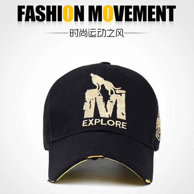 5 COLOR hombres lobo carta algodón sombreros y gorras de béisbol ajustable de hueso Casual Snapback mujeres Hairwear accesorios