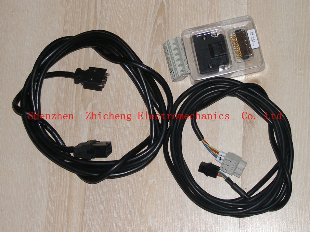 Ac + connector encoder connector + 5m power cable + 10 meters of sensor cable set for servo AC servomotorAc + connector encoder connector + 5m power cable + 10 meters of sensor cable set for servo AC servomotor