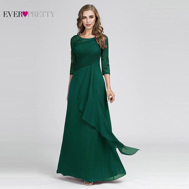 Plus Size Prom Dresses 2020 Elegant Half Sleeve O-neck Burgundy A-line Sexy Chiffon Lace Appliques Cheap Vestidos De Festa 4