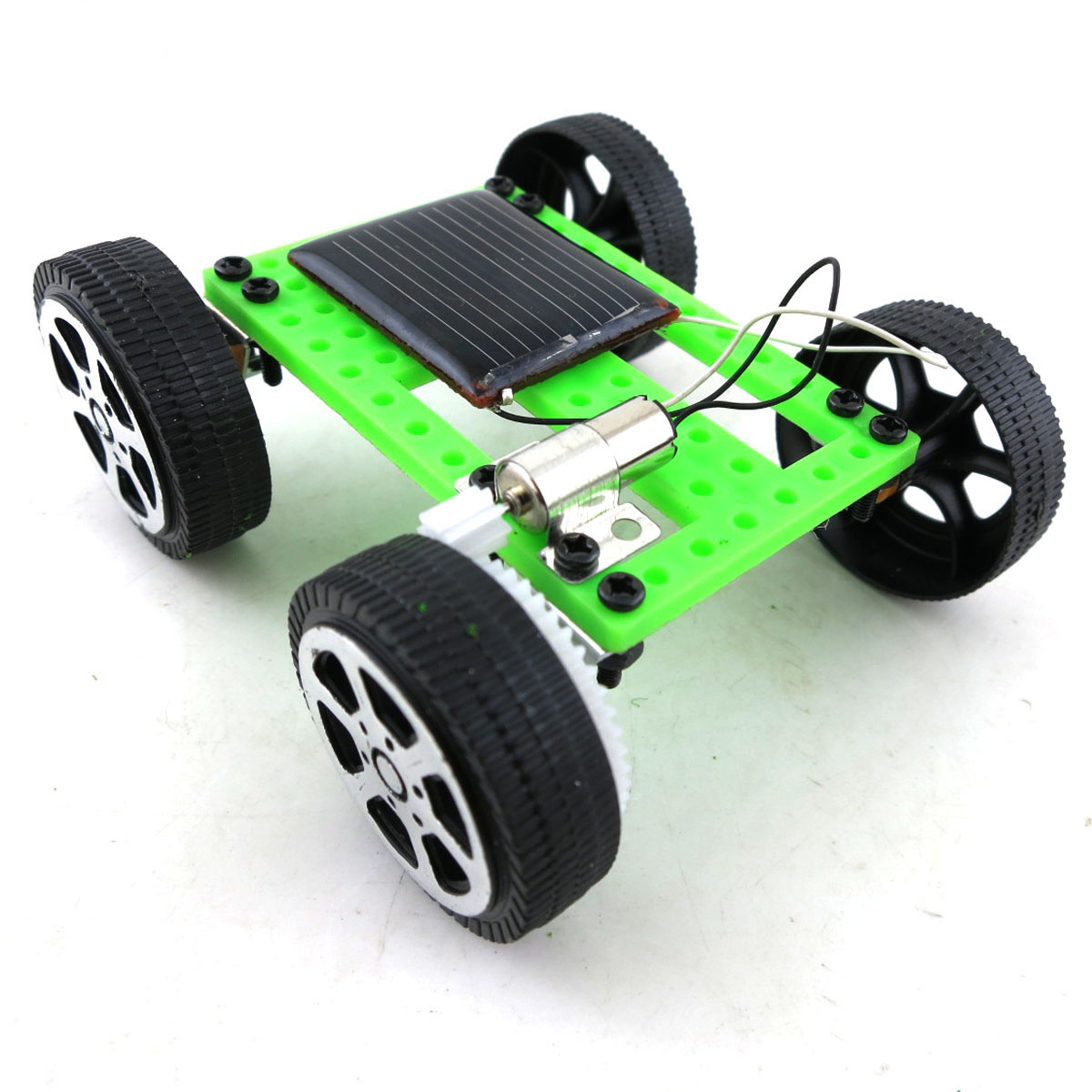 1PCS Kids Early Education DIY Solar Energy Car Science Experiment Puzzle Building Blocks Assembled Toy Physics Teaching Tool