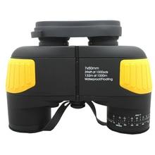 Discount! HUANDEE Hot 7X50 rangefinder military binocular Professional marine floating binoculars telescope HBT002