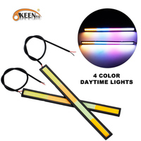 KEEN Cheap price Aluminum 6W 12V 17cm super bright colorful COB led drl light with 4 colors led daylight running light for car