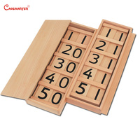 Math Toys Montessori Seguin Board Wood Material Friendly Child Sensory Number Teach Aids Learning Math Toys Puzzles