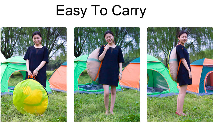 Ultralight Nylon 234 Persons Portable Pop Up Outdoor Camping Beach Tents (3)