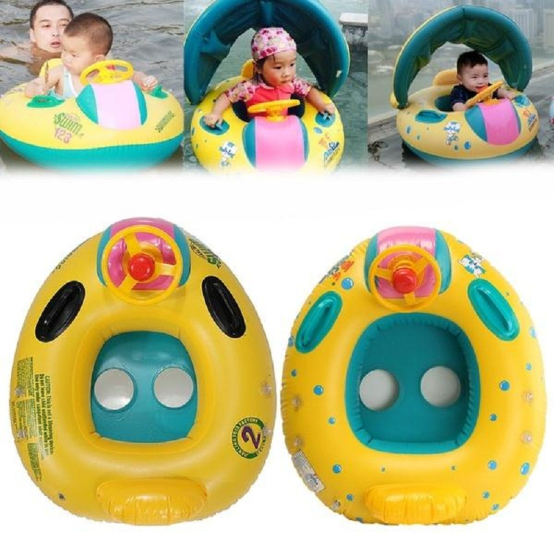 Baby Kids Summer Swimming Pool Swimming Ring Inflatable Swan Swim Float Water Fun Pool T ...