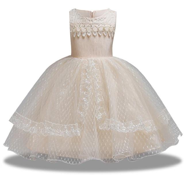 2e1ed3280d7cf Été enfant bébé haute qualité robe de baptême filles fête de mariage robe  de princesse élégante