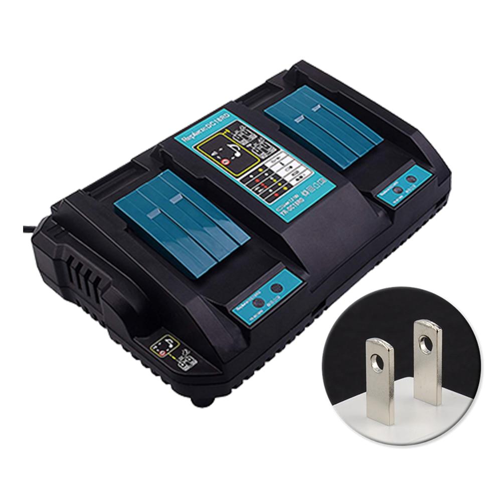 Chargeur rapide de batterie de Li-ion de double Port d'outil de puissance de véhicule de Protection de Circuit de charge d'anti surchauffe de 14.4 V 18 V pour Makita DC18RD