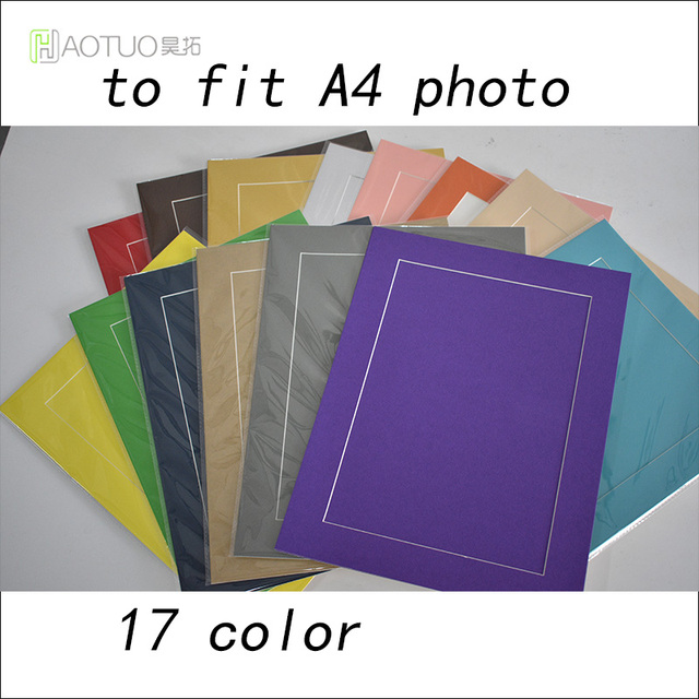 Ht Acid Free Cardboard A4 Photo Mats With Backing Board For A4