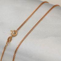 AU 750 20 дюймов Аутентичное 18 K розовое золото колье на цепи ожерелье/3,00 г