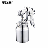 MAXMAN 1000ml Airbrush Pneumatic Spray Gun Professional Sprayer Alloy Painting Atomizer Tools With Hopper For Painting