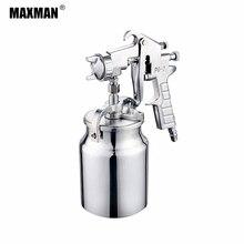 цена на MAXMAN 1000ml Airbrush Pneumatic Spray Gun Professional Sprayer Alloy Painting Atomizer Tools With Hopper For Painting Car
