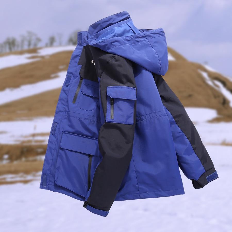 Grande Formato Delle Donne Degli Uomini di Inverno di Pesca Impermeabile Da Trekking Campeggio Trekking Sci Arrampicata Doppio Strato Caldo 3 In 1 Outdoor Giubbotti