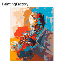 Colorful jazz Musician rock roll Oil Painting pictures By Numbers Digital Picture Coloring by hand Unique Gift Home Decoration(China)
