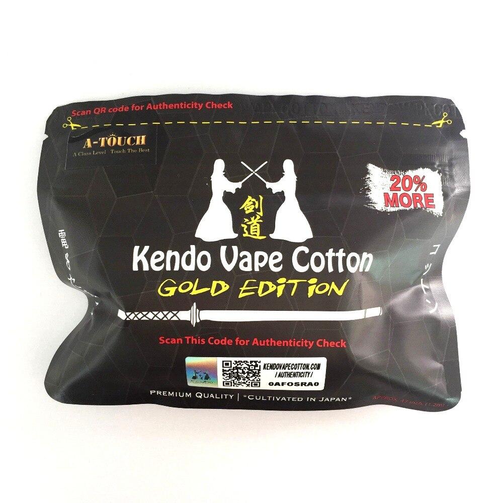 EINE-touch Elektronische Zigarette Kendo Vape Baumwolle 100% Japanischen Wärme Draht Organische Baumwolle für DIY RDA RBA Zerstäuber Spule docht