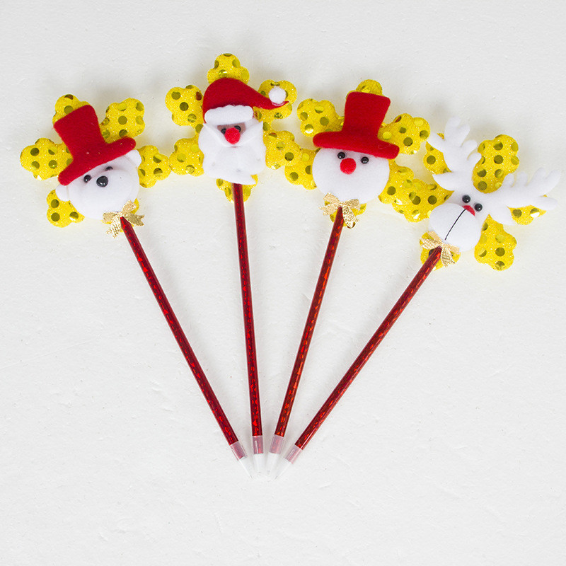 1pc 2019 New Cartoon Santa Claus Ballpoint Pen Christmas Decorations for Home Lovely Series Year Party Little Gift