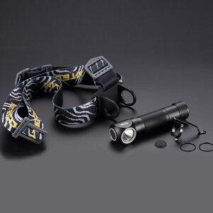 Image 5 - Nitecore HC33 Đèn Pha XHP35 HD LED Max 1800 Lumen Thể Thao Ngoài Trời Đầu Đèn Chùm Ném 187 Mét 8 Chế Độ Làm Việc ánh Sáng