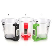Все в одном мерная чаша с цифрами весы вес температура кухонные инструменты с ЖК-дисплеем