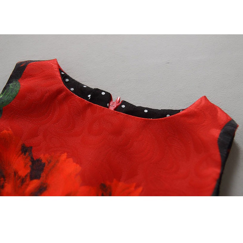 Neue Mädchen Hochzeitskleid Druck Red Robe Princesse Fille - Kinderkleidung - Foto 6