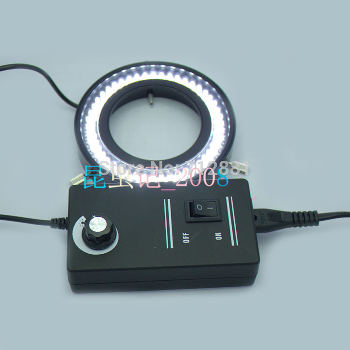 Фото Adjustable 96 LED Ring Light For Microscope Ring Lamp Illuminator With Adapter High Brightness Free Shipping Wholesale