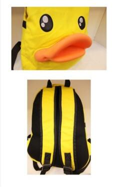 The new Korean version of three-dimensional duck shoulder bag cute duckbill backpack canvas student bags