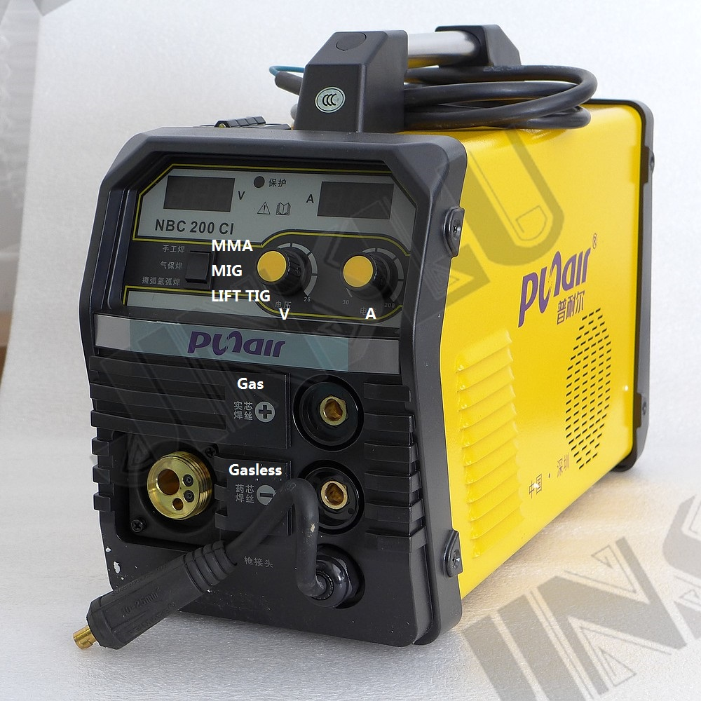 MIG-200 MAG MIG Welder Flux-cored Gasless Welding Machine With Lift TIG Function 4 In 1 Mig Welder  SALE1