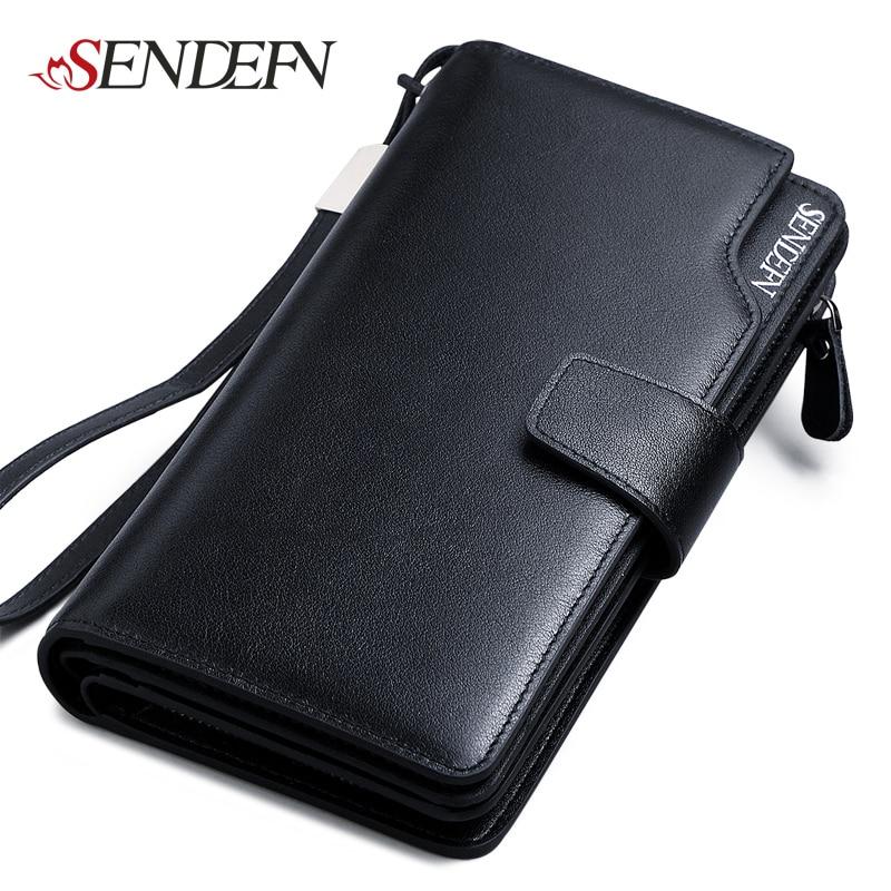 SENDEFN Luxury Genuine Leather Business Wallets