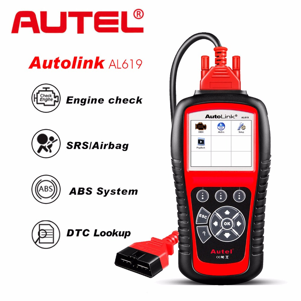 Autel AL619 OBD2 Scanner Car Code Reader Engine,ABS,SRS Auto Diagnostic Scan Tool AL619 Diagnostic Tool Automotive Scanner transparent dental orthodontic mallocclusion model with brackets archwire buccal tube tooth extraction for patient communication