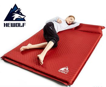 Hewolf 1 2 3 Person Thick 5cm Automatic Inflatable Mattress Beach Cushion Anti Moisture Pad Hking Fishing Outdoor Camping Mat