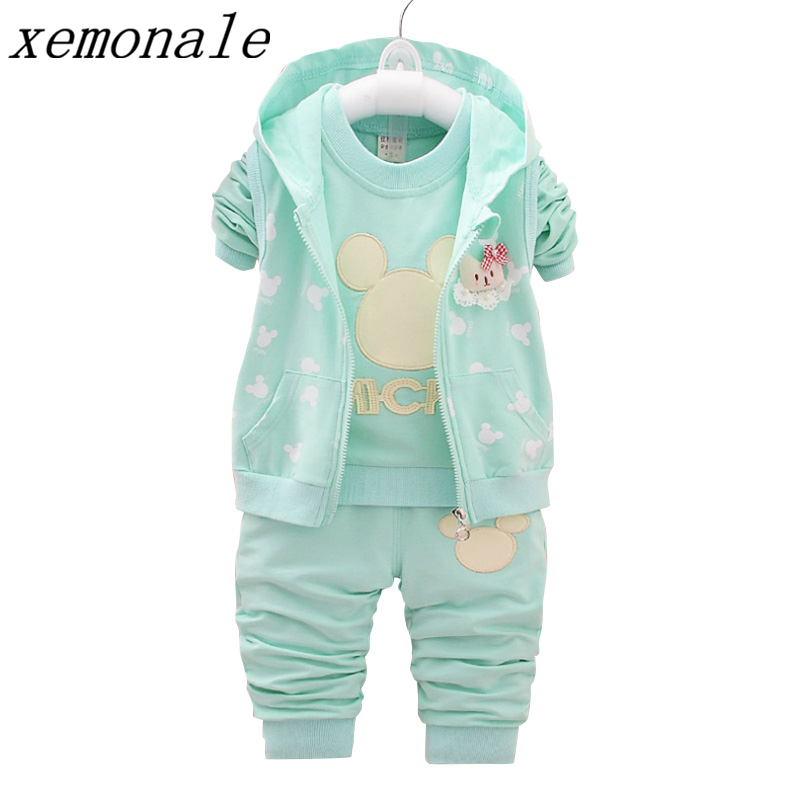 Children Clothing Sets Fashion Brand Toddler Clothes Girls Hooded Vest Tshirt Pants 3pcs Suit Autumn Kids Coats Sport Tracksuits children camouflage clothing sets 3pcs tshirt pants vest sportswear boys girls spring autumn roupa de menino casual streetwear