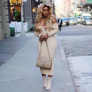 ZJFZML ZZ Women Sexy Long Sleeve Party Bodycon Dress 4fe0c5f58858