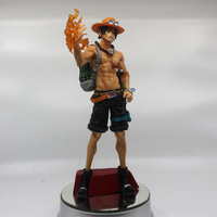 New One Piece Luffy's Brother Portgas D Ace Fire Fist Huge Super Master Stars Piece Banpresto Figure Figurine Toys