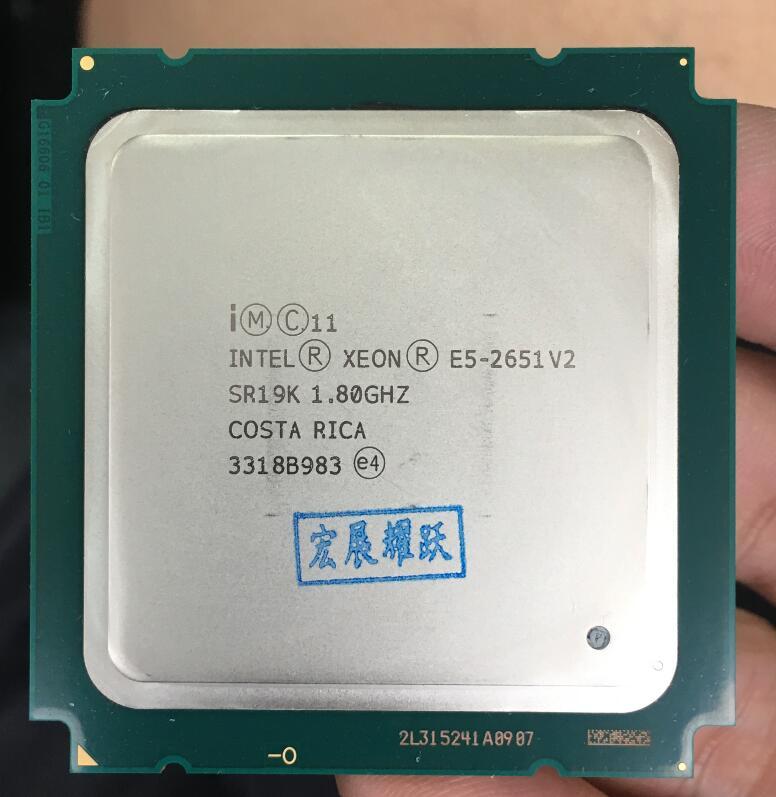 Intel Xeon Processor E5-2651 V2  E5 2651 V2  CPU 1.8 LGA 2011 SR19K Twelve Cores Desktop Processor E5 2651V2 100% Normal Work