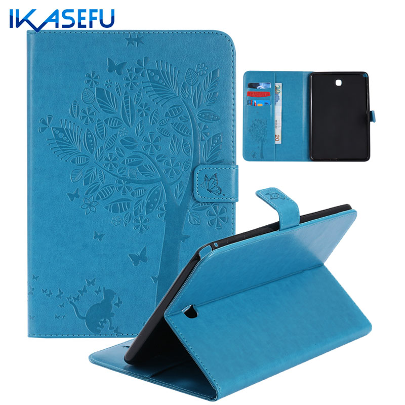 IKASEFU Filp Stand Case Cover Capa For Samsung Galaxy Tab A 8 0 T355 PU Leather