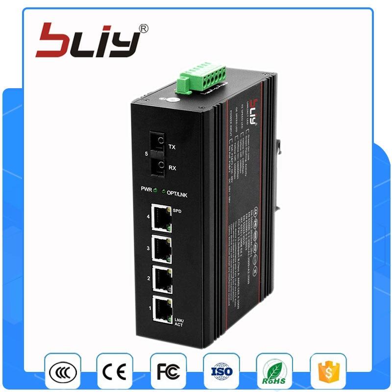 1GX4GT 4 gigabit ethernet port singlemode dual fiber optical fiber switch