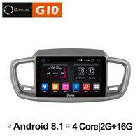 10.1 ips Screen Android 8.1 Head Unit Car DVD Multimedia Video Player for Kia Sorento 2015 2016 stereo 4G sim card radio gps PC