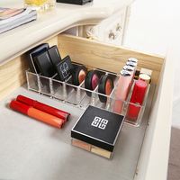 Acrylic Makeup Organizers 8 Eye Shadow Collection Box Dressing Table Lipstick Powder Cake Blush Cosmetics Collection Box