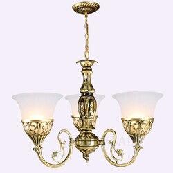 1/3/5/9 heads Europese Home Hanger Verlichting voor woon/eetkamer/slaapkamer Hanger lamp glazen lampenkap