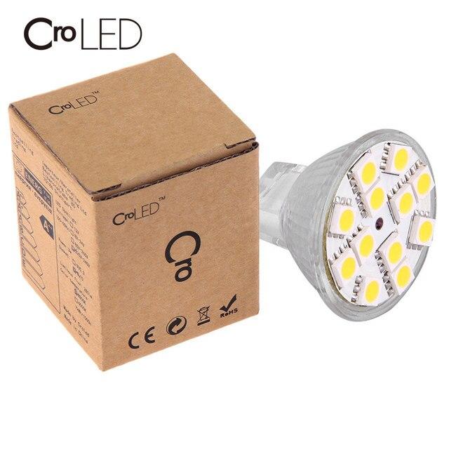 CroLED  MR11 Spotlight Lamp Bulb 12V G4 1.8W 12SMD5050 LED Home Spot Light