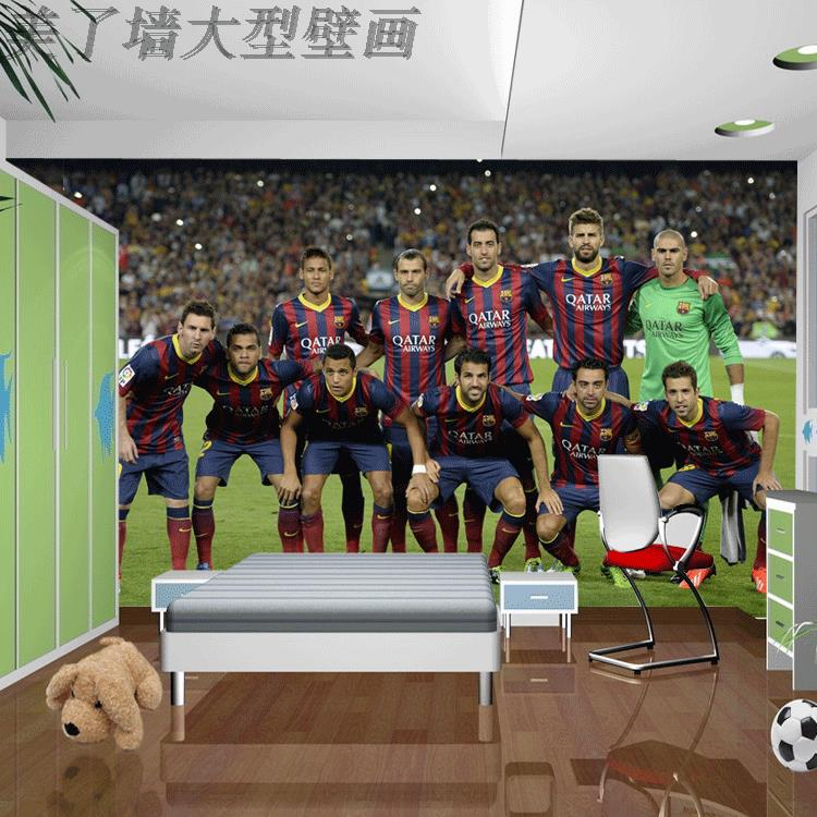 Free Shipping European Football Club messi family portrait 3D wallpaper mural dormitory wallpaper free shipping european football club football star messi portrait wallpaper mural