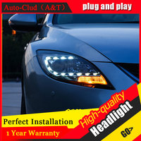 Auto Clud Car Styling For Mazda 6 led headlights For Mazda 6 head lamp led front light Bi Xenon Lens Double Beam HID KIT