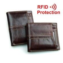 Новые путешествия RFID кошелек натуральная кожа мужчины кошельки с съемный держатель кредитной карты кошельки carteira masculina RFID защиты