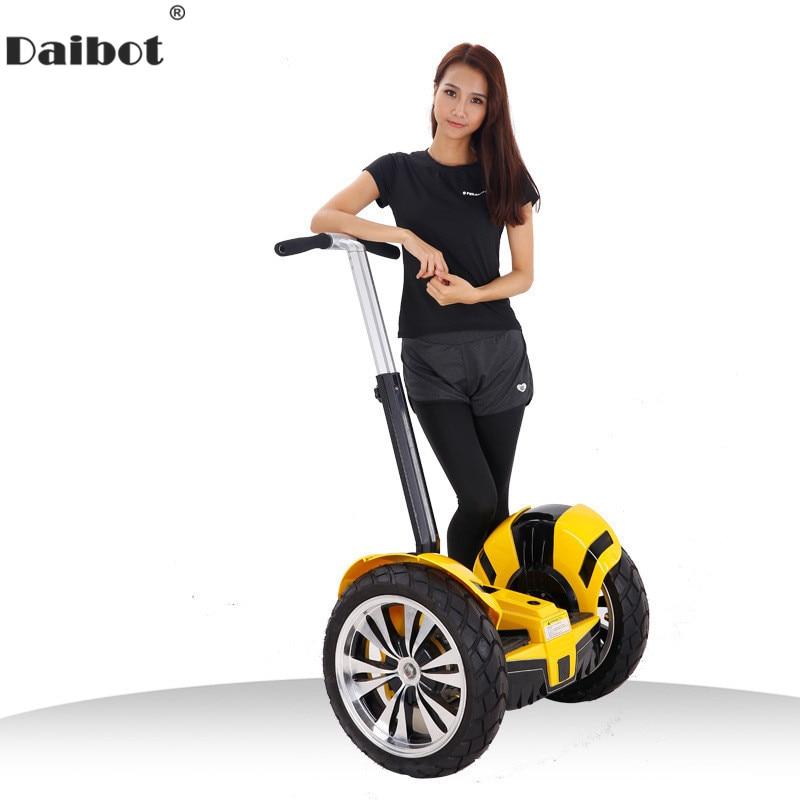 Daibot 19 Pouces Hors Route trottinette électrique Gros Pneus Deux Roues Auto Équilibrage Scooters Adultes Auto hoverboard