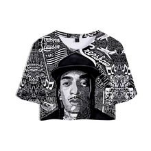 2019 T-shirt 3D Rep nipsey hussle Summer women sexy short T-shirts Women Fans Casual Clothes New Hot Sale t shirt Plus Size XXL
