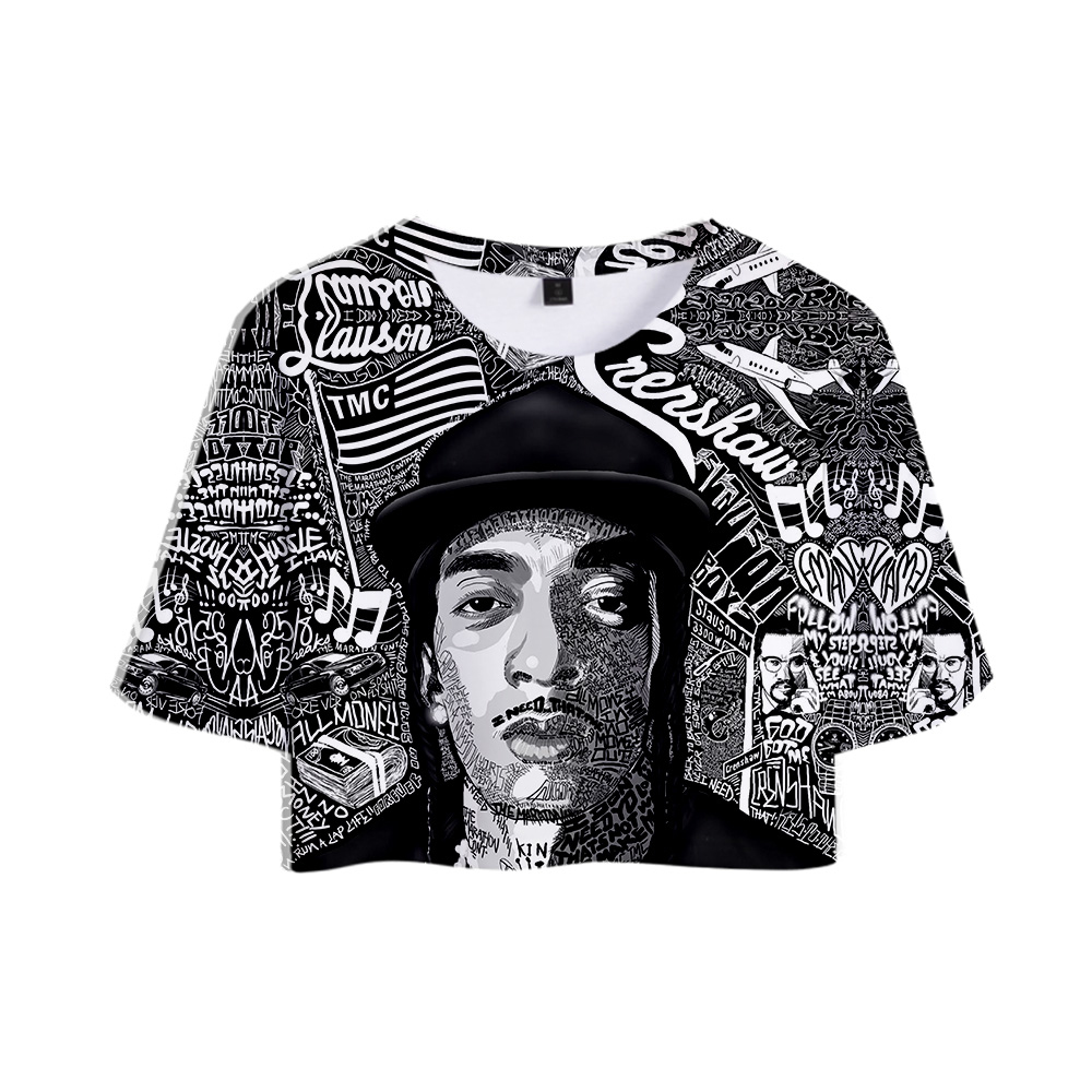 2019 <font><b>T</b></font>-<font><b>shirt</b></font> <font><b>3D</b></font> Rep nipsey hussle Summer women <font><b>sexy</b></font> short <font><b>T</b></font>-<font><b>shirts</b></font> Women Fans Casual Clothes New Hot Sale <font><b>t</b></font> <font><b>shirt</b></font> Plus Size XXL image